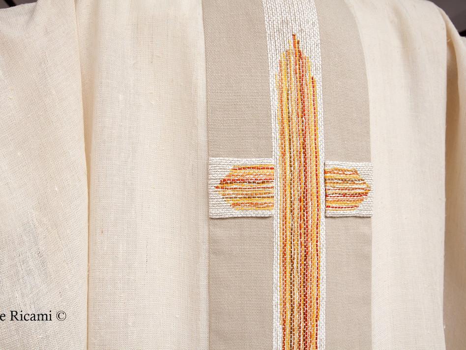 Casula sacerdotale rustica con croce