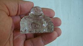 clear buddha gemquartz carved stone