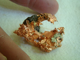 A gold gemquartz mineral stone