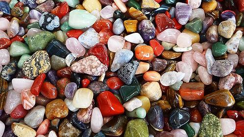 colorful gemquartz stones and minerals