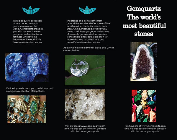 collage collection of rare stones, minerals, gems from around the world