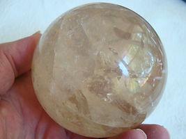 a round clear shiny gemquartz stone