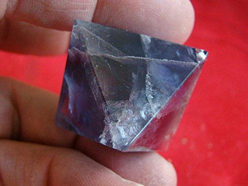 Fl1717 Rainbow Fluorite Octahedron Meditation Healing
