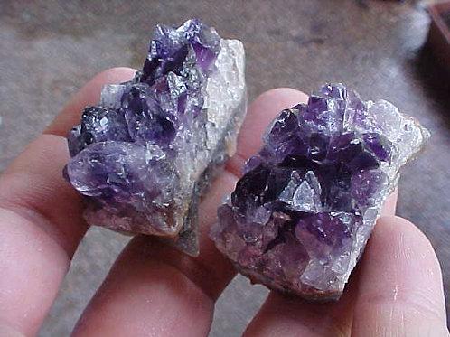 D1009 GemQz Amethyst Crystal Cluster Pair from Artigas !!!