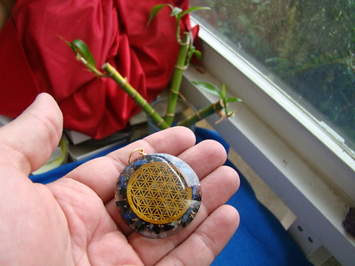 Ebay0122 Chakra medallion with amethyst