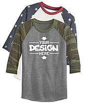 Alternative aa2089 Raglan Baseball T-Shirt