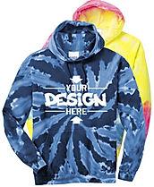 Port & Company PC146 Tie-Dye Hoodie Sweatshirt