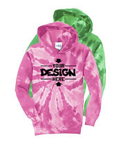 Port & Company PC146Y Youth Tie-Dye Hoodie Sweatshirt