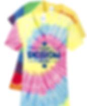 Port & Company LPC147V Women's Tie-Dye  V-Neck Shortsleeve T-Shirt