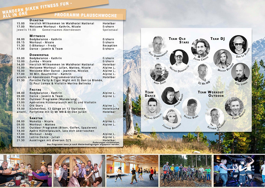 Programm 2020 Moutain Move Plauschwoche