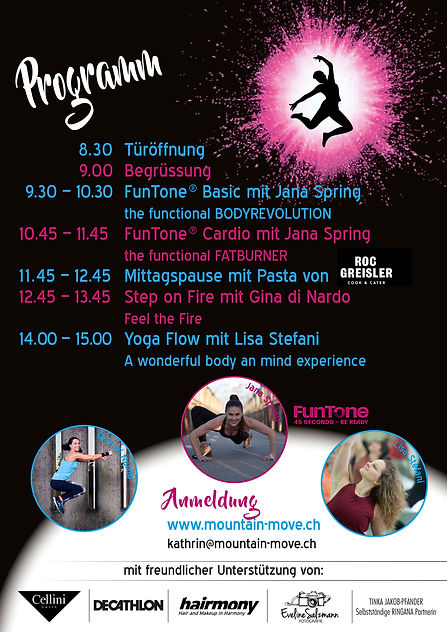 Flyer funtional sunday 2020 Programm