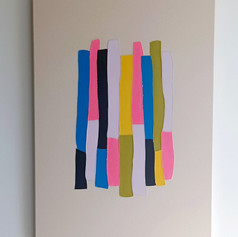 Stacked 10 - sewn painting