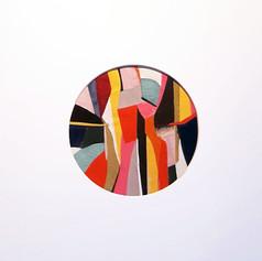 Porthole 3 - Fabric collage