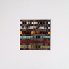 Linear 3 - Fabric collage