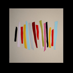 Stacked 1 - sewn painting