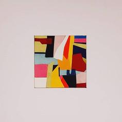Intuitive 5 -'Eva' Fabric collage