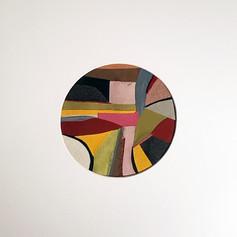 Porthole 2 - Fabric collage