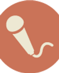 Microphone Icon Brown