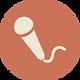 Icono de micrófono Brown