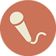 Microphone Icône Brown