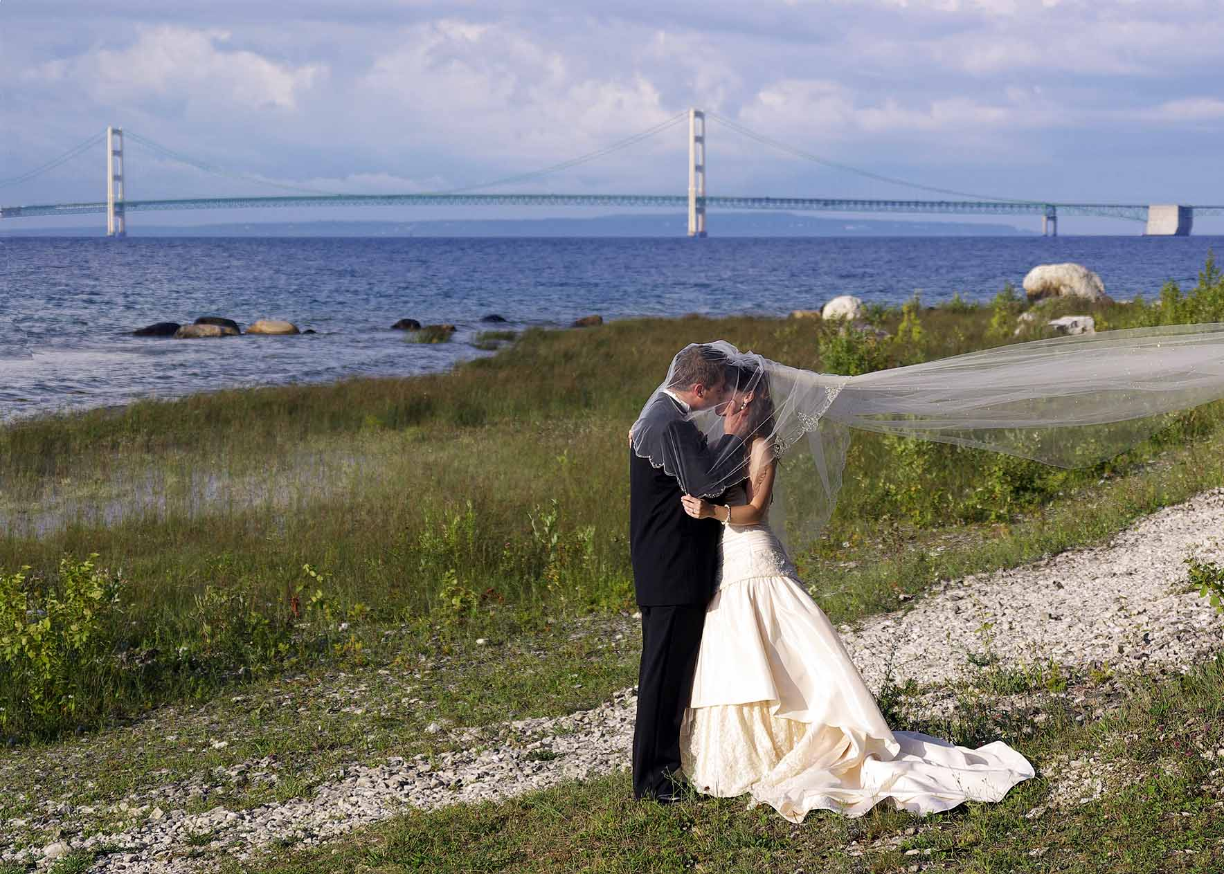 Wedding at the Headlands Mackinaw