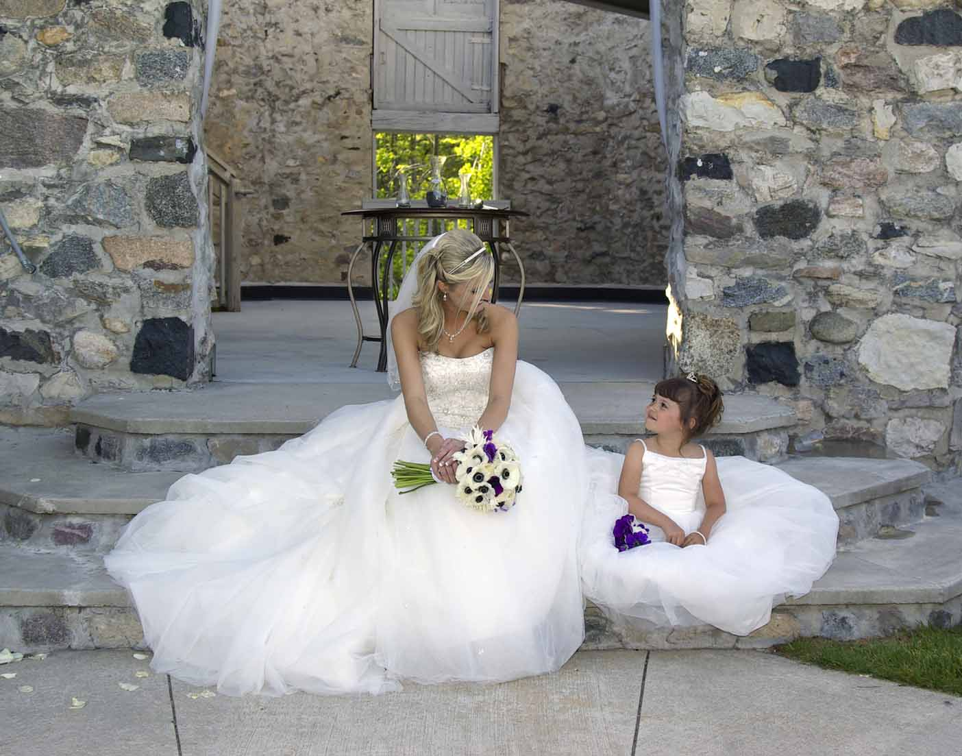 Bride & Flower Girl Castle Farms