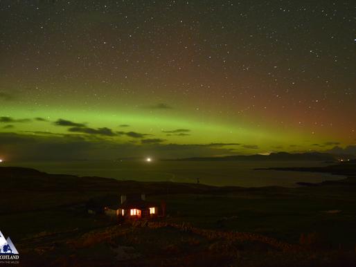 Aurora over Nature Scotland HQ!