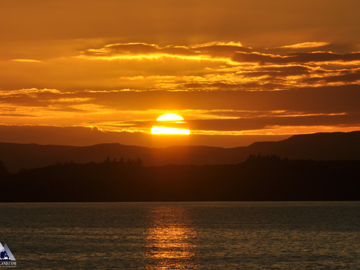 Sunset over Wolf Island