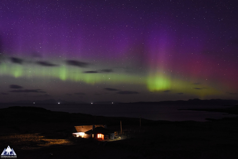 Aurora, Aurora Borealis, Northern Lights, Mull