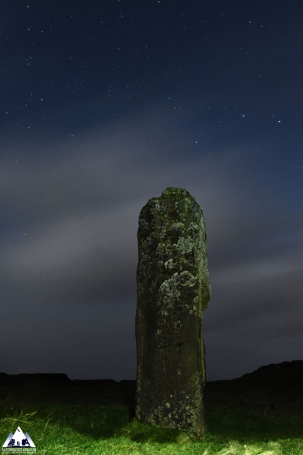 Night Photography, Standing Stone, Mull, Isle of Mull, Stargazing,