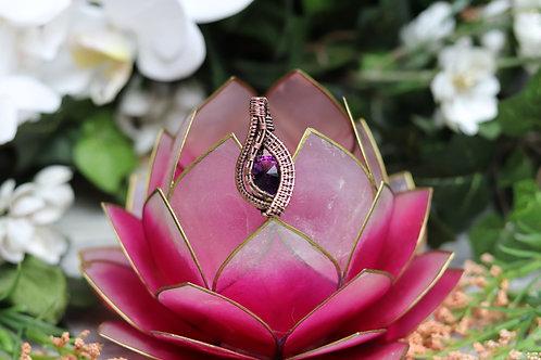 Wine colored Swarovski crystal pendant