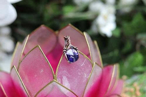 swarovski royal purple crystal mini pendant