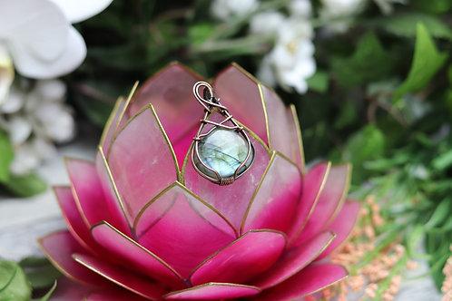 Crystal Necklace handmade labradorite pendant