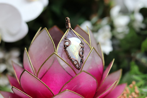 Rainbow moonstone jewelry / moonstone necklace / wirewrapped jewelry / valentine