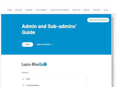 Interactive Admin and Sub-Admin guide has launched!