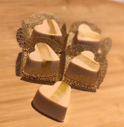 Corações de Nutella