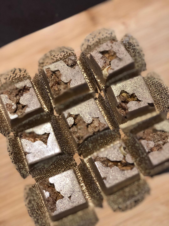 Rústico de nozes carameladase canela