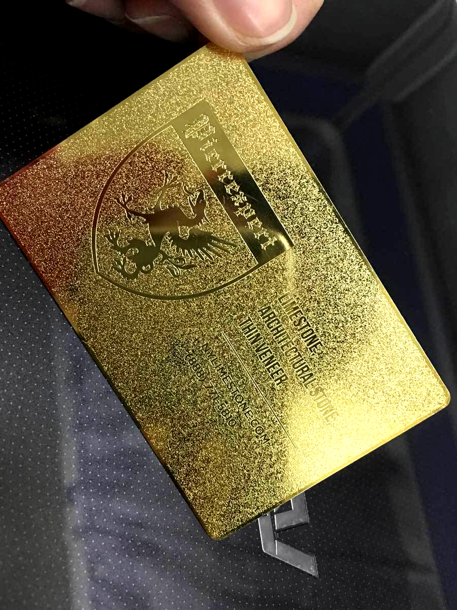 Etched Gold Metal Business Card