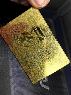 Luxury Gold Business card.