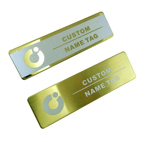 Custom Nameplate Metallic Finish