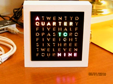Word Clock Front panel Laser cut
