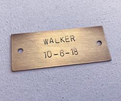 Equipment Metal Label etch