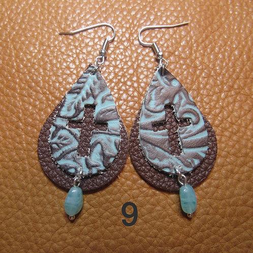 Genuine Cowhide Leather Earrings