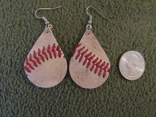 Baseball Tear Drop Earrings