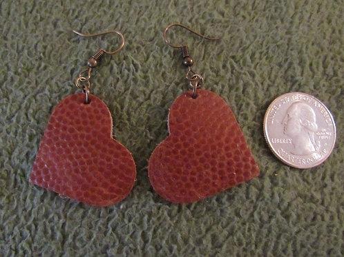 Football Leather Heart Earrings