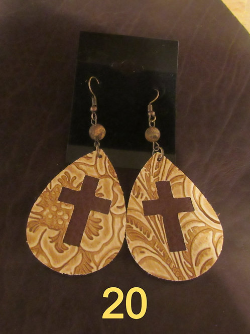 Genuine Bison Leather Earrings