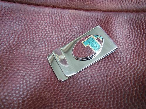 Money Clip - Football Leather
