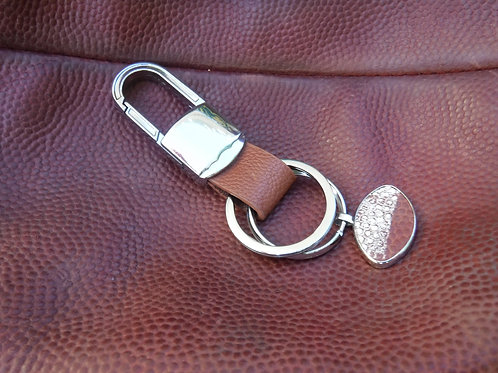 Key Chain - Football Leather