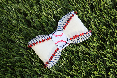 Custom Baseball Bowtie Hair Clip