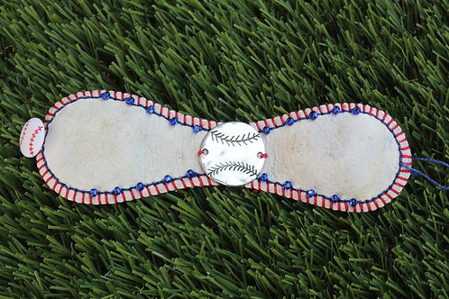 Baseball Leather Cuff Bracelet